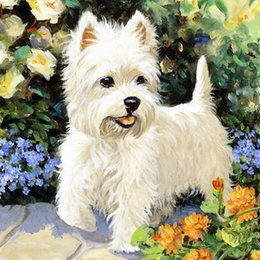 Wholesale Picture Frames Dogs - DIY 5D Diamond Painting Embroidery Dog Animal Cross Stitch Mosaic Kit Painting Decoration Picture for Home Decor Without Frame A2497