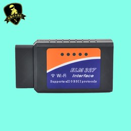 Wholesale Arabic Ipad - Wholesale- High Quality V1.5 Version ELM327 OBD 2 Code Readers Auto Scan Tool ELM 327 Wifi Supports Android and For iOS Android Ipad PC