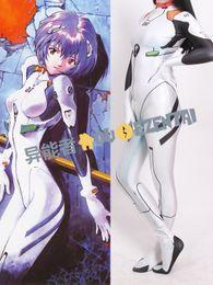 Wholesale Neon Female - Anime Neon Genesis Evangelion Ayanami Rei Cosplay Costume 3D Print Eva Rei Suit Zentai Catsuit Female Women Girls Lady Bodysuit