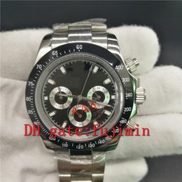 Wholesale Men Luxury Automatic Watch Replicas - Mens watch black dial luxury brand watches automatic DATE TON watch sapphire glass AAA quality men wristwatches replicas wristwatch 093