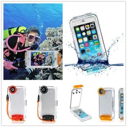Wholesale Iphone Underwater Housing - Underwater 40M Waterproof Clear Diving Shockproof Photo Housing Cover Case for iPhone 6 6S Plus For Swiming Fishing