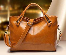 Wholesale Satchel Lady - Women Messenger Bags 2017 New Fashion PU Leather Women's Shoulder Bag Crossbody Bags Casual Famous Brand Ladies Handbags
