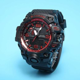 Wholesale Original G Watch - New Original Colors Mens Casual G Sport Watches Led Waterproof Lady S Shock GA100 Watch
