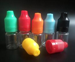 Wholesale Neddle Bottle - Factory price 500pcs Tamper Proof E Liquid Bottle 5ML PET plastic empty dropper juice bottles Neddle Oil Bottle