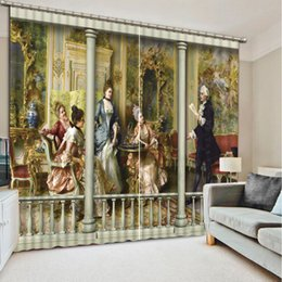 Wholesale Door Hotel - High Quality Customize size modern home decor europe angel model home curtains window curtain for living room