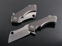 TOP END Cabeza Cuadrada Titanium TC4 Tactical Cuchillo Plegable D2 Hoja de Supervivencia de Caza de Caza Cuchillo de Bolsillo Mejor Regalo Colección Herramienta EDC desde fabricantes