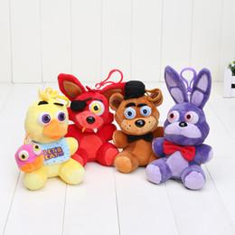 2019 estoque de video games Pingente FNAF em estoque cinco noites no freddy fazbear Foxy chica brinquedos de pelúcia bonecas brinquedos de pelúcia brinquedos infantis 14 cm estoque de video games barato
