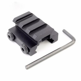 Monte montante en Ligne-Tactique 3Slot 20mm Couteau Picatinny Rail Rope Scope Sight Riser Montures Chasse Pistolet Lampe de Poche Mont Base Accessoires
