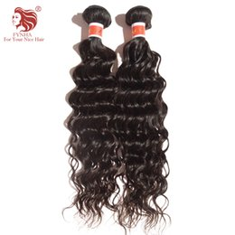 """Wholesale Wholesale Brazilian Virgin Hair French - 2pcs lot 12-30"""" 100% virgin hair bundles Peruvian French Curly human hair extension can be dyed and restyled natural color #1b free shipping"""