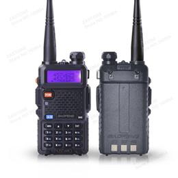 Wholesale Vhf Uhf Transceivers - 5PCS BaoFeng UV-5R walkie taklie transceiver 5W VHF UHF Dual Band 136-174 400-520 MHz two way radio walkie talkie