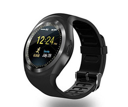 Wholesale Touch Screen Watched For Kids - Y1 smart watches 1.54 inches IPS Round Touch Screen Water Resistant Smartwatch Phone Slot Support SIM card smart watch for IOS Android