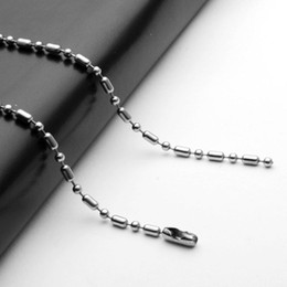 Wholesale Wholesale Necklaces Labels - High quality silver charm fashion stainless steel bead Bead chain bamboo chain DIY pendant dog label key chain lady men's jewelry