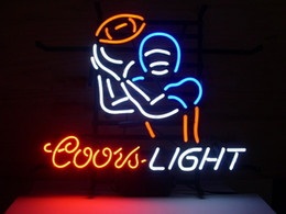 Wholesale Light Football Neon Signs - Fashion New Handcraft Coors Light Football Sport Real Glass Beer Bar Display neon sign 19x15!!!Best Offer!