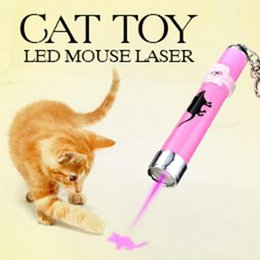 Wholesale Portable Laser Pen - Portable Creative and Funny Pet Cat Toys LED Laser Pointer light Pen With Bright Animation Mouse Shadow