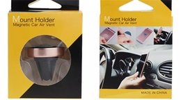 Wholesale Top Cell Phone Accessories Wholesale - TOP Universal Cell Phone Mount Holder Magnetic Car Air Vent Accessories Mixed Color Best quality cell phone mounts holders accessories
