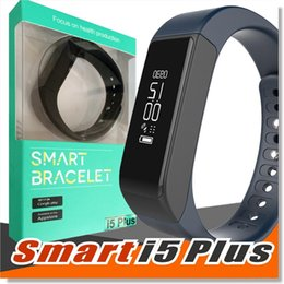 Wholesale Ios I5 - I5 Plus Bluetooth Smart Sports Bracelet Wireless Fitness Pedometer Activity Tracker with Steps Counter Sleep Monitoring Calories Track