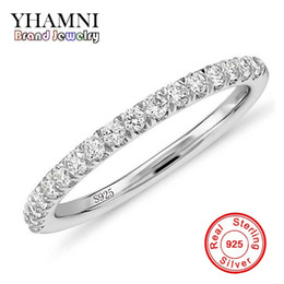Wholesale China Channels - YHAMNI Fashion Original Real 100% 925 Sterling Silver Ring Luxury Diamond Wedding Jewelry for Women Gift JZ002