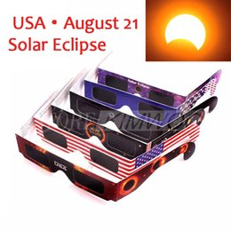 Wholesale Usa Papers - 2017 USA Solar Eclipse Glasses Paper Solar Glass Viewing Eyeglasses Protect Your Eyes Safe when 21th August DHL Free Fast Shipping