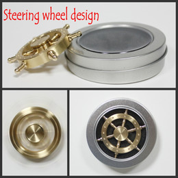 Wholesale Pure Toys - Pure Brass EDC Helmsman Fidget Spinner Hexagonal Rotating Hand Spinner Metal Steering Wheel Finger Toy For Autism and ADHD Kids Adult