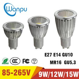 Canada E27 E14 GU10 MR16 GU5.3 Ultra Lumineux Dimmable 9W 12W 15W 85 ~ 265V Ampoules LED Spotlight COB Led Blanc Chaud / Froid cheap epistar 9w mr16 led Offre