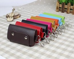 Wholesale Key Holders For Car Brands - Fashion Gifts Keys Holder Organizer ger Buckle Key Wallet Case Car Keychain for Women Men Brand