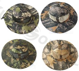 Wholesale Camouflage Caps Hunting - Outdoor sport camouflage fishing hat man hunting camping Jungle Leaves cap Tactical Climbing Baseball cap