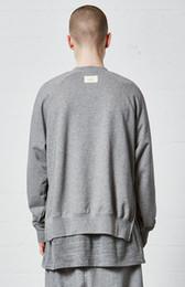 Wholesale Zipper Turtleneck Sweatshirt - 2017 best version Justin Bieber OVERSIZE FOG Side zipper men Sweatshirts hip hop Fashion Casual High collar Pullover black gray