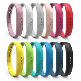 Wholesale Fitbit Flex Wristband Small - 12-Pack Replacement Soft TPE Colorful Classic Wrist WatchBand Strap Buckle for Fitbit Flex 2 Wristband Small Large FC0065Z12