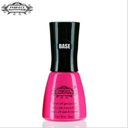 Wholesale Perfect Base - Wholesale- Perfect Summer 1 piece Base Gel Nail Polish LED UV Soak off Long Lasting 8ml Gel Lacquer Nail Art Decoration