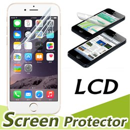 Wholesale Lcd Screen Guard Iphone - Transparent Clear Front LCD Screen Protector Guard Film With Cloth Sratch Resistant For iPhone X 8 7 Plus 6 6S 5S 5 Samsung S8 Note 8 5