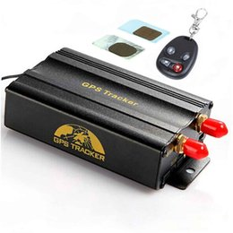 Wholesale Car Phone Dual Sim - Dual SIM Card Car GPS Tracker with Open door via cell phone Cut off Oil & Power remotely TK103B+