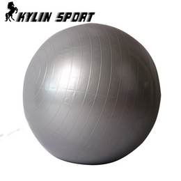 Wholesale 65cm yoga ball - Wholesale-2015 Gym Equipment Smooth New Real Ball 65cm Yoga Pilates Fitball Fitness Gym Health Balance Trainer Exercises At Home