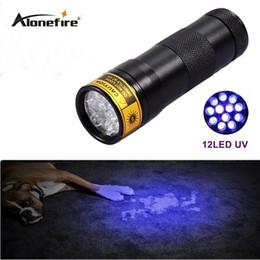 Wholesale Uv Violet Lamp Torch Flashlight - 12 LED UV Ultra Violet Lamp Torch Flashlight for Anti-fake uv Flashlight