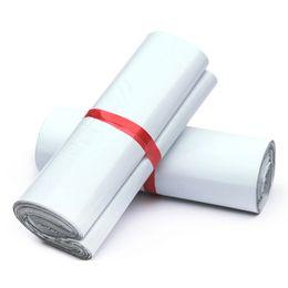 Wholesale Mailbag Plastic Envelope - Good Quality 28x42cm White Mailer Bags Self-seal Mailbag Plastic Envelope Courier Postal Mailing Bags Self Adhesive Express Poly Bag 50pcs