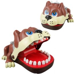 Wholesale Funny Dentist Gifts - Wholesale-Large Bulldog Mouth Dentist Bite Finger Game Funny Toy Babies Kids Children Toys Gift