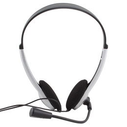 Wholesale Skype Phone Computer - Cheap Wired Gaming Earphone Headphone With Microphone 3.5mm Plug MIC VOIP Headset Skype for PC Computer Laptop #21228