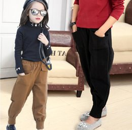 Wholesale Boys 5t Corduroy Pants - Han edition leisure children haroun pants 2017 new girls spring boy loose cloth bloomers wide-legged pants