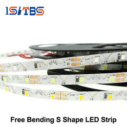 Wholesale Wholesale Bent Wire - LED Strip 2835 Free Bending S Shape LED Strip DC12V Flexible LED Light 60LED m 5m Lot for Channel Letter