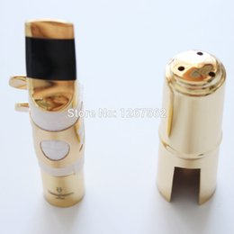 Wholesale Alto Saxophone Sax - Wholesale- Brand New Free Shipping YANAGISAWA Metal Alto Saxophone Mouthpiece Sax Mouth Size 5 6 7 8 9