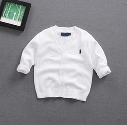 Wholesale Kids V Neck Sweater - polo small horse kids boys girls sweaters cardigan S-M-L-XL-XXL 2-5years old 100%pure cotton V-NECK