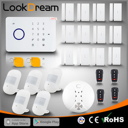 Wholesale Gsm Wireless Burglar - LookDream Best Smart Touch Security Wireless GSM Burglar Home Alarm Companies Director Sales Low Consumption Power