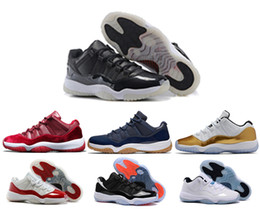 Wholesale Navy Cherry - air Retro 11 Olympic Metallic Gold White Varsity Red Cherry Navy Gum Concord Basketball Shoes Sneakers Women Men 11s Lows XI Sports Shoes