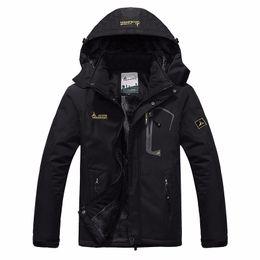 Wholesale Warm Waterproof Jacket Women - Wholesale- autumn winter Plus velvet thickening jacket Men's woman jacket waterproof windproof men's casual warm coat jacket size L-5XL 6XL