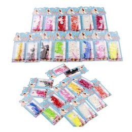 Wholesale Dog Nail Covers - 20pcs a lot soft pet nail caps colorful dog cat nail cover with free glue 12 colors for different size pets DHL free