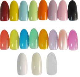 Wholesale Acrylic Oval Nail Tips - 500PCS set Oval Natural Colors False Acrylic Nail Tips UV Gel Half Nail Tips French Nail Art Tips