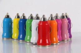 Wholesale Mini Car Charger Ego - Fashionable Car Chargers Bullet Mini USB Adapter Cigarette Lighter For I6 Plus For Samsung S6 Ipad Pro EGO Car Charger