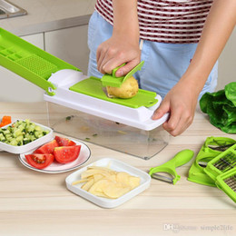Wholesale Grater Multifunction - Multifunction Potato Slicer Vegetables Cutter Stainless Steel Blade Carrot Grater Diced Slicer Kitchen Accessories(12pieces set)