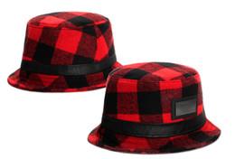 Wholesale Plain Bob - Red Grid Cayler Sons Summer Style Bob Bucket Hats For Men Women Fisherman Hat Fishing Cap Outdoor Chapeau TYMY 33