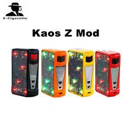 Wholesale Led Battery Box - 100% Authentic Sigelei Kaos Z Box Mod 200W Vape Mod Powered by 2 x 18650 Batteries with Adjustable LED Lights Vape Mod