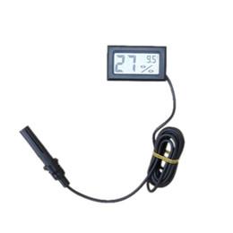 Wholesale Temperature Humidity Meter Probe - 2016 FY-12 -50-70C 10%~ 99% RH Mini Thermometer Hygrometer Temperature Humidity Meter Digital LCD Display Probe